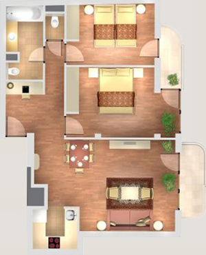 Elegant 2 Bedroom Suite